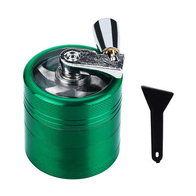 Hand Crank Crusher Tobacco Cutter Grinder Hand Muller Shredder Smoking Case Set