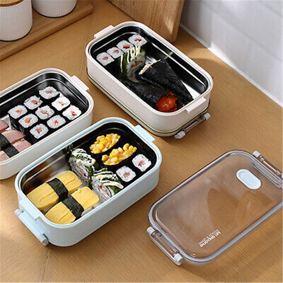 1-2 Layer Stainless Steel Insulated Lunch Box Food Storage Container Thermal Hot