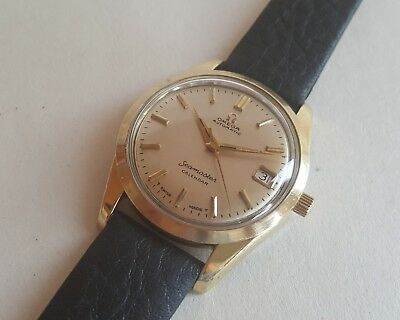 Gent's Vintage Gold Plated Omega Seamaster Calendar Automatic Wrist Watch