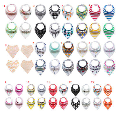 4Pcs/Set Infant Baby Boy Girl Bibs Feeding Saliva Towel Dribble Triangle Bandana