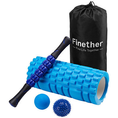 Foam Roller Yoga Grid Spiky Ball Trigger Point Massage Physio Pain Stress Relief
