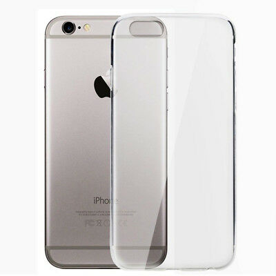 Hot ULTRA SLIM TPU SOFT SILICONE CLEAR BACK CASE COVER FOR IPhone 6 6s