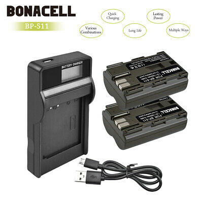 Powtree BP-511A Battery or Charger for Canon EOS 20D 30D 300D 40D 50D 5D WM