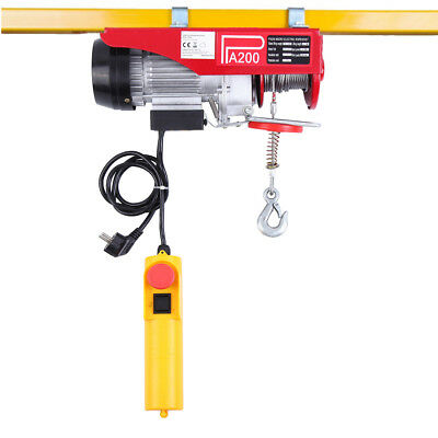 Scaffolding Winch Electric Hoist Workshop Garage Gantry125/250kg Lifting 550W
