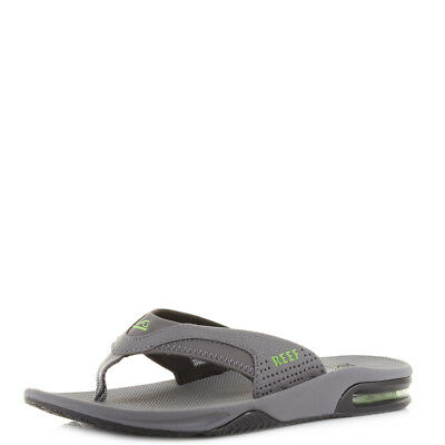 a2dec8e6fc67 Mens Reef Fanning Green Black Glow Grey Comfort Sports Flip Flops Sz Size
