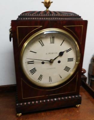 mahogany cased double fusee bracket clock