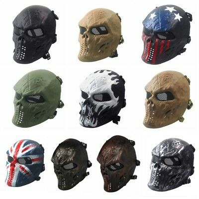 Halloween Tactical Military Airsoft Paintball Full Face Skull Skeleton CS Mask