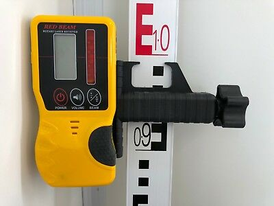 Laser Detector/ Receiver for laser level For Leica, Topcon, Geomax,Battery Incl.