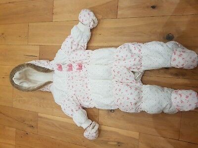 Baby girls next ditsy floral snowsuit 3-6 months gorgeous!