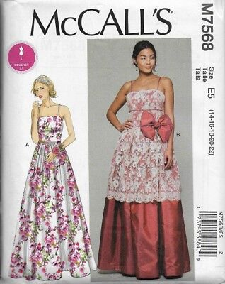9dfa780aadd59 McCall's Sewing Pattern M7568 Misses' DRESSES, Evening, Prom, Wedding ...