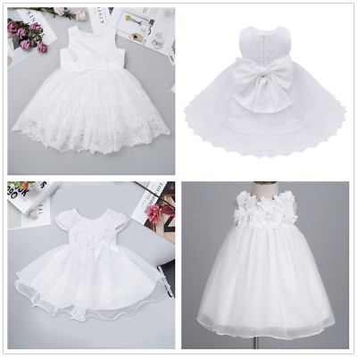 Baby Princess Girls Dress Lace Embroidery Christening Wedding Party Kids Clothes