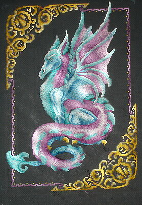 Janlynn Completed Counted Cross Stitch Unframed Tapestry Picture Mythical Dragon