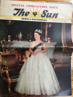 Women's Weekly Royal Wedding Special 1981 Pair & The Sun 1953 Coronation Issue