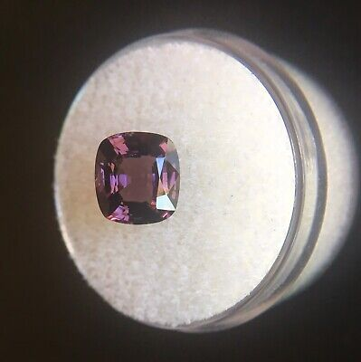 NATURAL 2.64ct Pink Purple Burma Spinel UNTREATED Cushion Cut RARE Gem