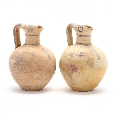 Authentic Antiquity Pair of Cypro-Geometric Juglets circa 1000-750 B.C.