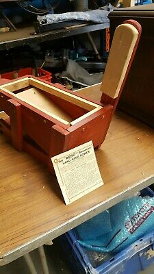 Vintage Antique Aero Broadcaster and Seed Sowerwooden body with instructions