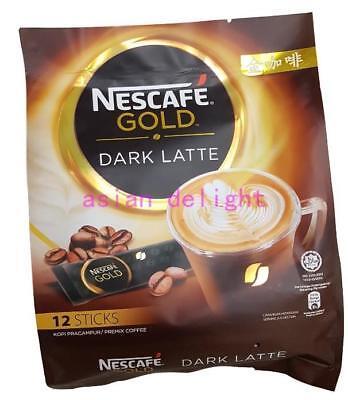 NESCAFE Instant Premix Gold Dark Latte ( 34g x12 sticks )