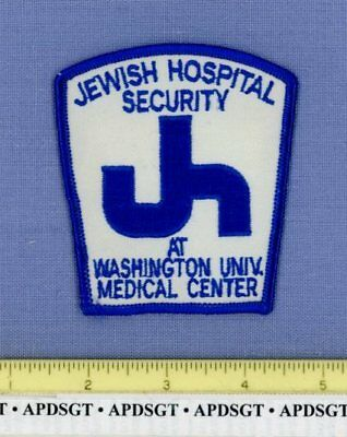 JEWISH HOSPITAL SECURITY WASHINGTON UNIV MEDICAL ST LOUIS MISSOURI Police Patch