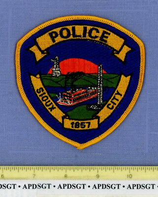 SIOUX CITY IOWA Sheriff Police Patch OLD STEAM RIVERBOAT