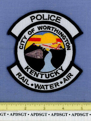 WORTHINGTON KENTUCKY KY Sheriff Police Patch DIESEL RAILROAD TRAIN AIRPLANE