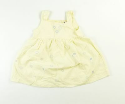 Next Girls Yellow Floral Dress Age 2-3