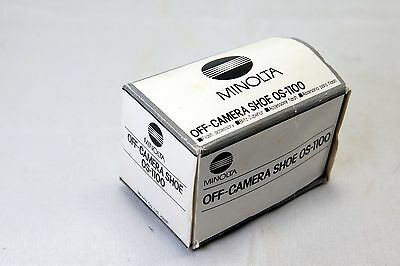 Minolta OS-1100 off camera flash shoe adapter Maxxum Sony Alpha SLR