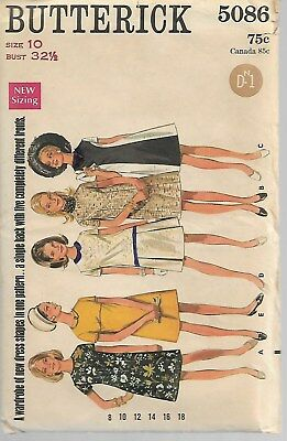 Vintage Butterick Sewing Pattern 5086 Size 10 (Complete & Unused)