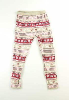 Young Dimension Girls Red Striped Leggings Age 11-12