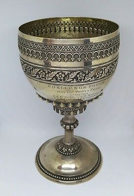 Antique Indian Colonial Silver Goblet, India – 1879