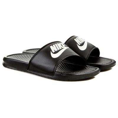 low priced 7c2ad 7730e Nike Hommes Benassi Jdi Tongs Noir Blanc (343880 090)