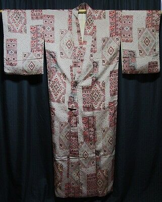 "Vintage Japanese Woman's Kimono Robe Collectible ""Gray Morning"""