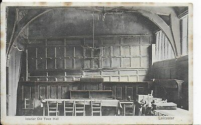 Early Rare,vintage Postcard,the Interior Of The Town Hall,leicester,1905