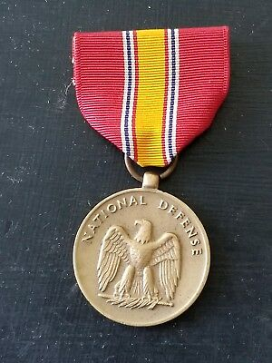 WWII US Army Navy Marine National Defense 1st Pattern Issue Medal