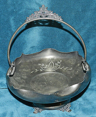 Nice Quadruple Silver Plate Bridal Bowl/dish! Antique Rockford Silver Co.
