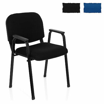 hjh OFFICE Conference Chair Meetinig Stool XT 650 Armrests Stackable Steel Frame