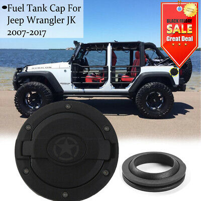 Exterior Parts 1pcs Aluminum Alloy Auto Car Oil Gas Fuel Tank Cap Cover Key Lock Exterior Decorative 2007-2017 For Jeep Wrangler Jk Accessories