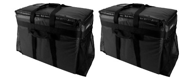 2 A Plus Bags Leak Proof Heavy Duty Large Black Catering Food Delivery 23x14x7