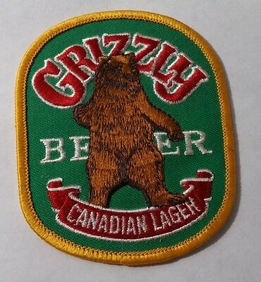 Grizzly Beer ~ Canadian Lager ~ Sew on Patch