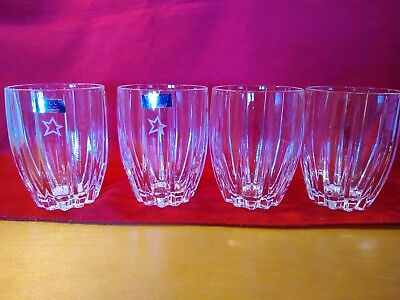 """Marquis by Waterford Crystal, 4 Double Old Fashioned Glasses, """"Harrah's"""""""