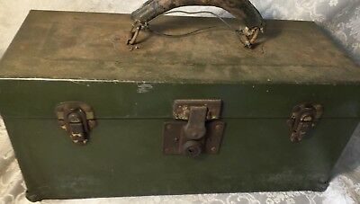 Vintage Genuine Union Chest Box Case Steel Tool Box Case