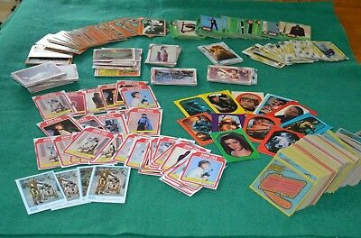 Vintage Topps Star Wars Trade Cards Yellow Blue Green Borders LOT+1977 Stickers