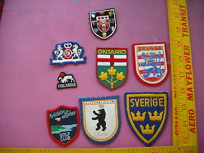 Lot of 8 Travel and Miscellaneous Patches