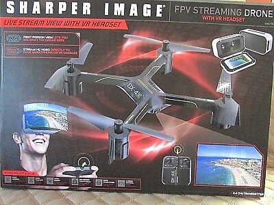 Sharper Image Dx 4 Hd Auto Pilot Video Streaming Drone 3 Speed