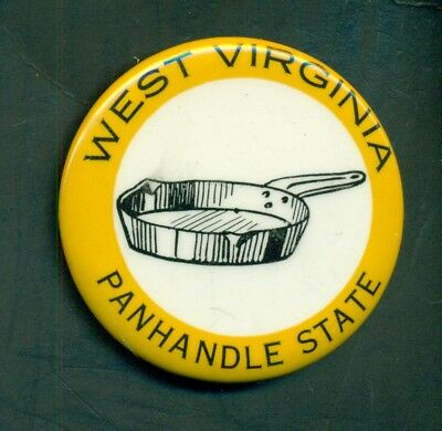 "1950's West Virginia""Panhandle State"" Pinback Button-Western Badge & Novelty Co."