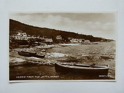 Vintage Postcard - Corrie From The Jetty, Arran - Valentines - Unused
