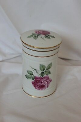 Vintage French decorative ceramic storage pot with gilt-edged lid - Reduced!!
