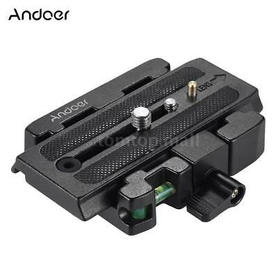 Andoer Video Camera Tripod Quick Release Plate Clamp Adapter for Manfrotto J3K1