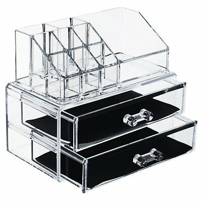 Premium Make-up and Jewellery Cosmetic Organiser | 2 Tier Cristal Clear Acrylic