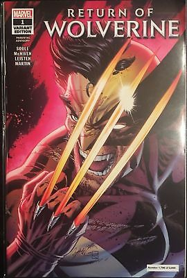 Return Of Wolverine #1 J.Scott Campbell NYCC Glow-in-the-Dark numbered variant