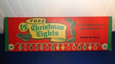 Tops Christmas Light Box with Lights Nice Condition
